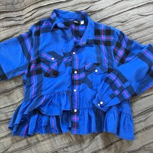 Urban Outfitters Peplum Flannel